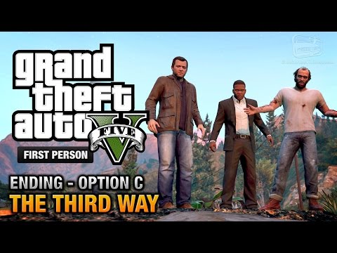 GTA 5 - Final Mission / Ending C - The Third Way (Deathwish) [First Person Gold Guide - PS4]