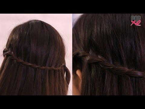 how-to-make-a-french-waterfall-braid- -hairstyles-for-medium-hair---popxo