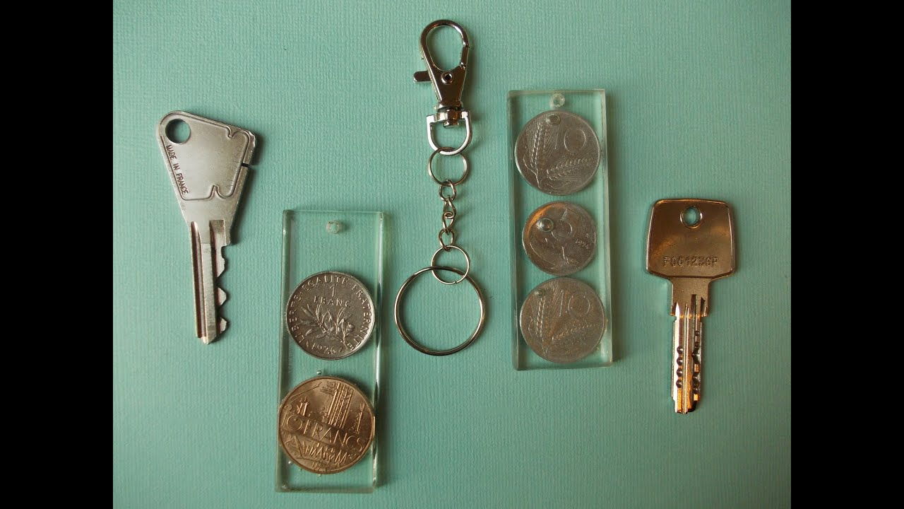 art hobby video porte clefs avec inclusions d 39 objets. Black Bedroom Furniture Sets. Home Design Ideas