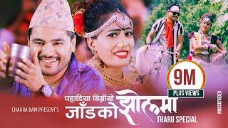 CHAKRA BAM'S NEW NEPALI THARU DANCING SONG 'पहाडिया बिग्रियो JAAD KO JHOL MA_ANJU KUSHMI (FULKUMARI)