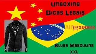 Unboxing 4 #ALIEXPRESS #BLUSA MASCULINA PRETA XXXL