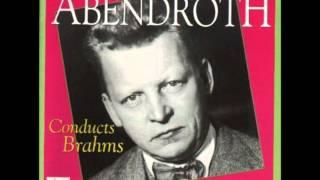 Brahms: Symphony #1 In C Minor, Op. 68 - 1. Un Poco Sostenuto, Allegro - Hermann Abendroth