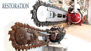 Восстановление старой бензопилы из 1970-х | Old chainsaw restoration