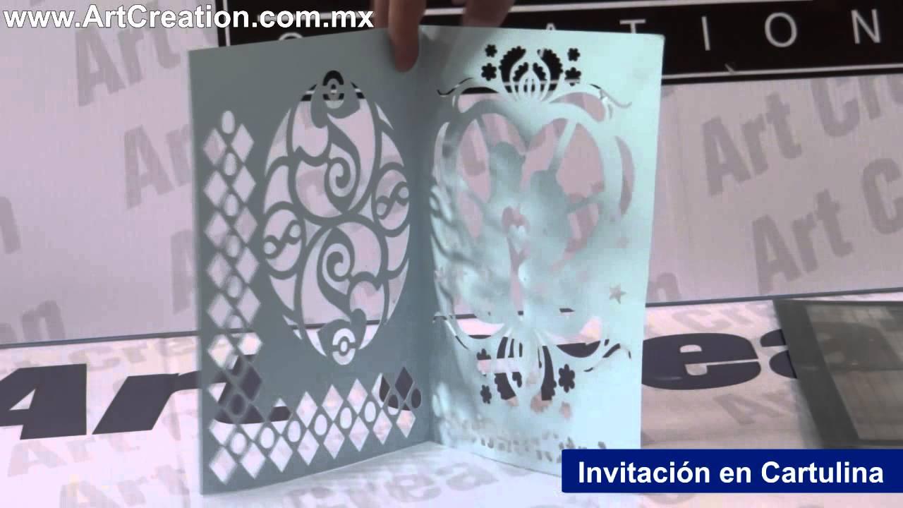 Invitaciones y Cajas en Cartulina – Plotter de Corte – Art Creation ...