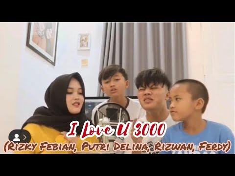 Perdana Rizky febian, Putri Delina, Rizwan dan Ferdy Cover Bareng - I Love U 3000 | Stephanie Poetri from YouTube · Duration:  4 minutes 10 seconds