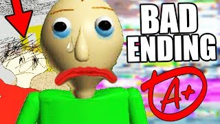 THE CREATOR'S HIDDEN MESSAGE! (New Ending) || Baldis Basics in Education and Learning BAD ENDING thumbnail