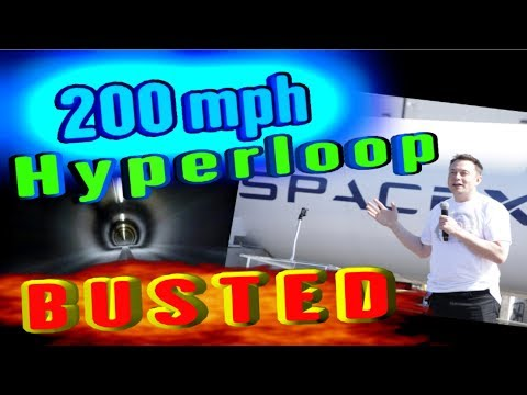 200mph Hyperloop.... BUSTED!