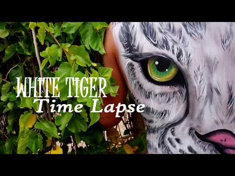 White Tiger Body Painting Time Lapse