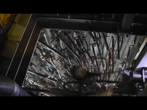 Tokyo, Japan - ECO Bike Shinagawa Automated Underground Bicycle Parking System HD (2017)