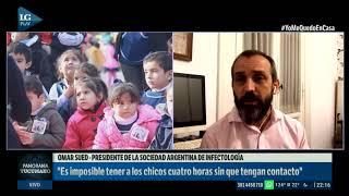 """""""La vuelta a clases no se puede plantear antes de la caída de casos"""", asegura Omar Sued"""