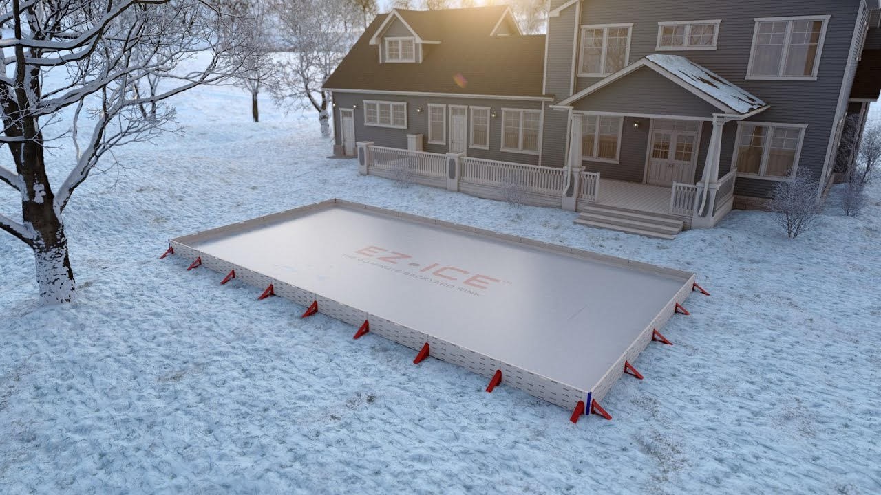 ez ice the 60 minute backyard rink youtube