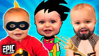 Incredibles 2 Pretend Play with Baby Jack Jack and Teen Titans Go! Aquaman Scooby Doo & Incredibles