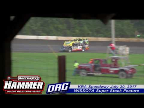 KRA Speedway 7/20/17 WISSOTA Super Stock Feature Final Laps. Tim Johnson chases Dave Mass and the two battle for the win. WATCH more at ... - dirt track racing video image