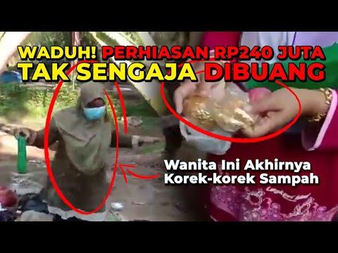 BERUNTUNG!!! PERHIASAN EMAS Senilai Rp240 Juta Ditemukan dalam Sampah