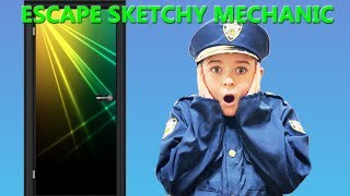 Escape the Room- Game of Clue with Sketchy Mechanic pretend play kids showdown