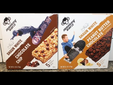 shaun-white-monkey-bars:-chocolate-chip-&-peanut-butter-chocolate-review