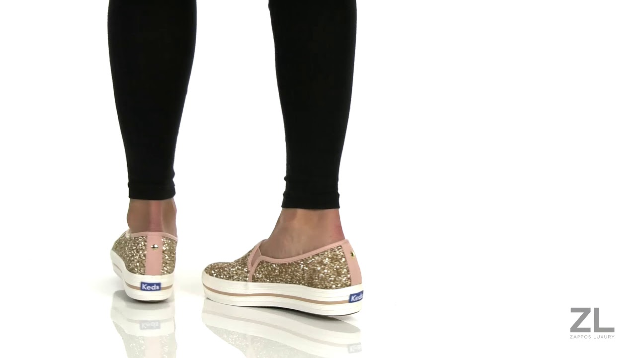 keds x kate spade new york glitter keds sneakers