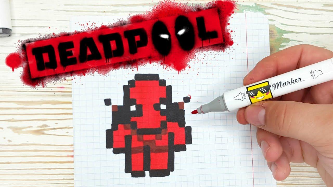 Deadpool - PIXEL ART - 🛑 ДЕДПУЛ- РИСУНКИ ПО КЛЕТОЧКАМ