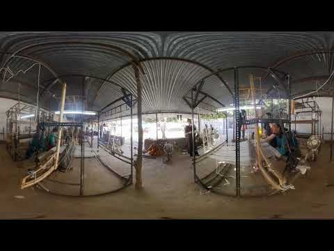 360 video of khadi weaving