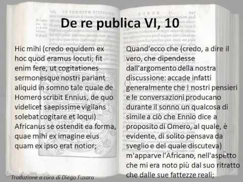 De re publica, cap  VI, dal paragrafo 10 al 13