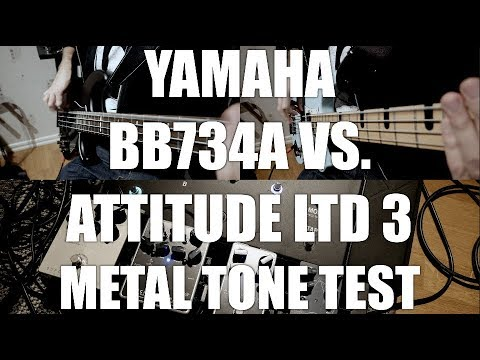 YAMAHA BB734A vs ATTITUDE LTD 3 METAL TONE TEST - BEAD-tuned bass VS. Pitched down EADG-tuned bass