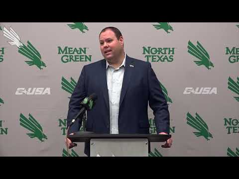 North Texas Football: AD Wren Baker Pre-New Mexico Bowl Press Conference