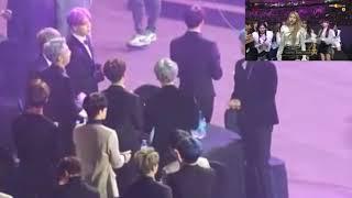 BTS reaction to Gfriend's winning speech @Seoul Music Awards 2019
