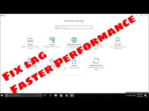 How To Fix Lag And Make Faster Performance Windows 10 #fasterperformance