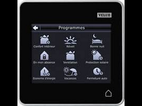 velux reportage sur la t l commande tactile doovi. Black Bedroom Furniture Sets. Home Design Ideas