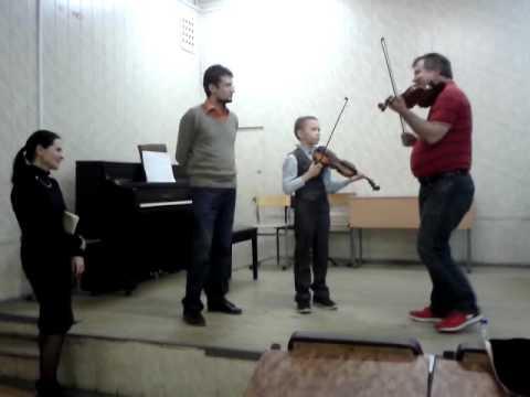 Wolfgang David violin's masterclass. Volodya 9 y.o.