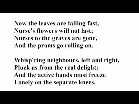 """""""Autumn Song"""" by W H Auden from Twelve Songs (read by Tom O"""