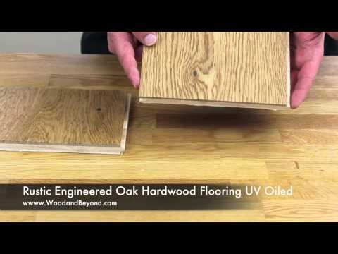 Rustic Engineered Oak Hardwood Flooring UV Oiled