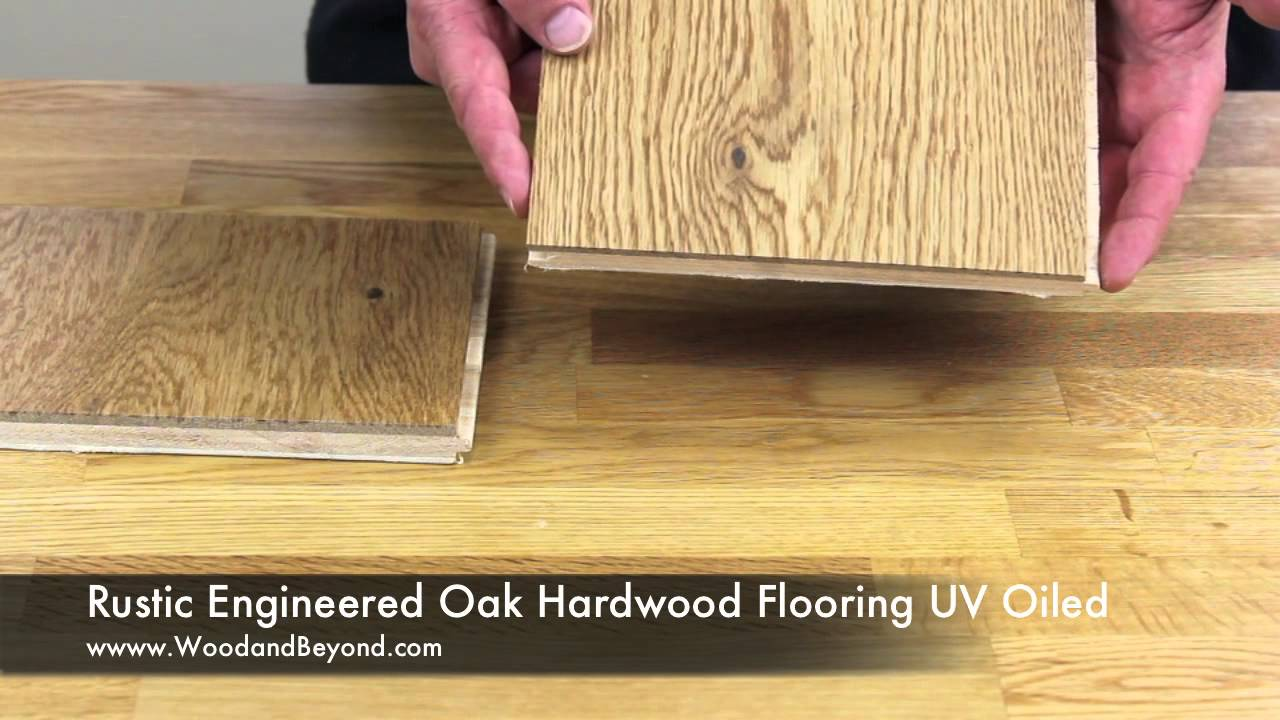 Rustic Engineered Oak Hardwood Flooring Uv Oiled