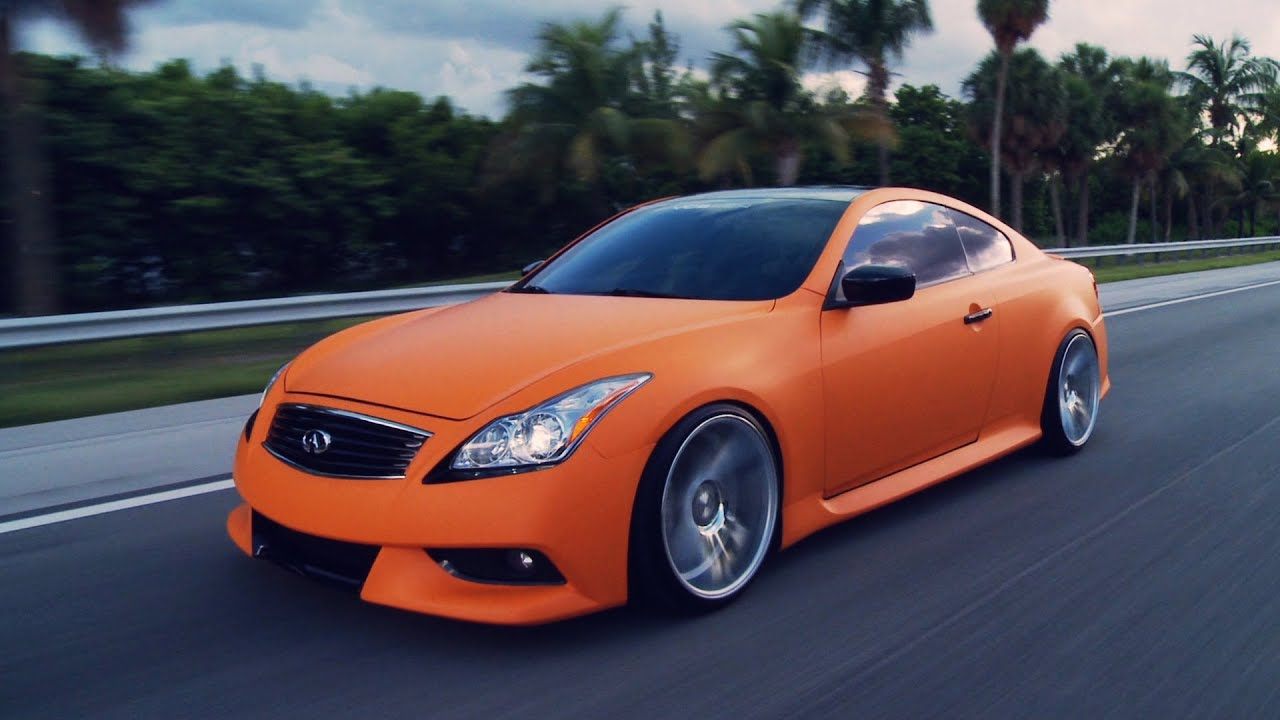 Matte Orange Infiniti G37s On 20 Quot Vossen Vvs Cv7 Concave