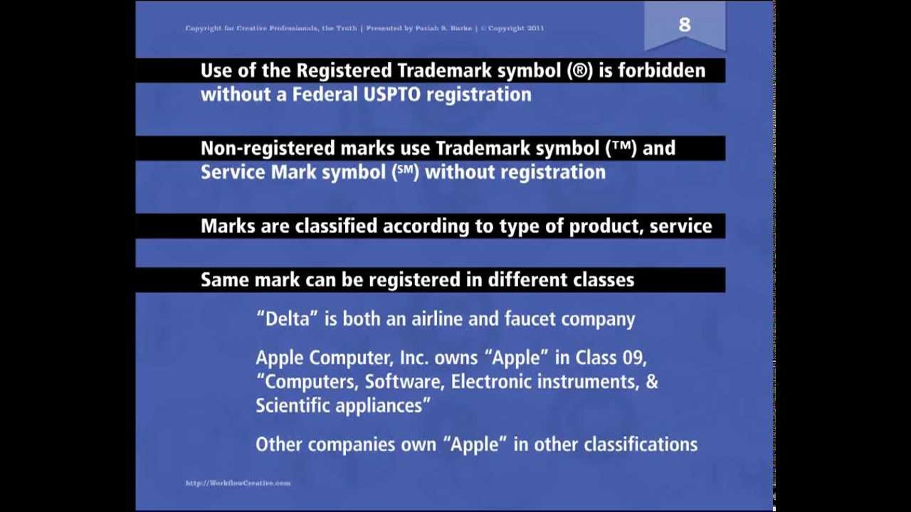 Trademark Basics Copyright For Creative Pros Youtube