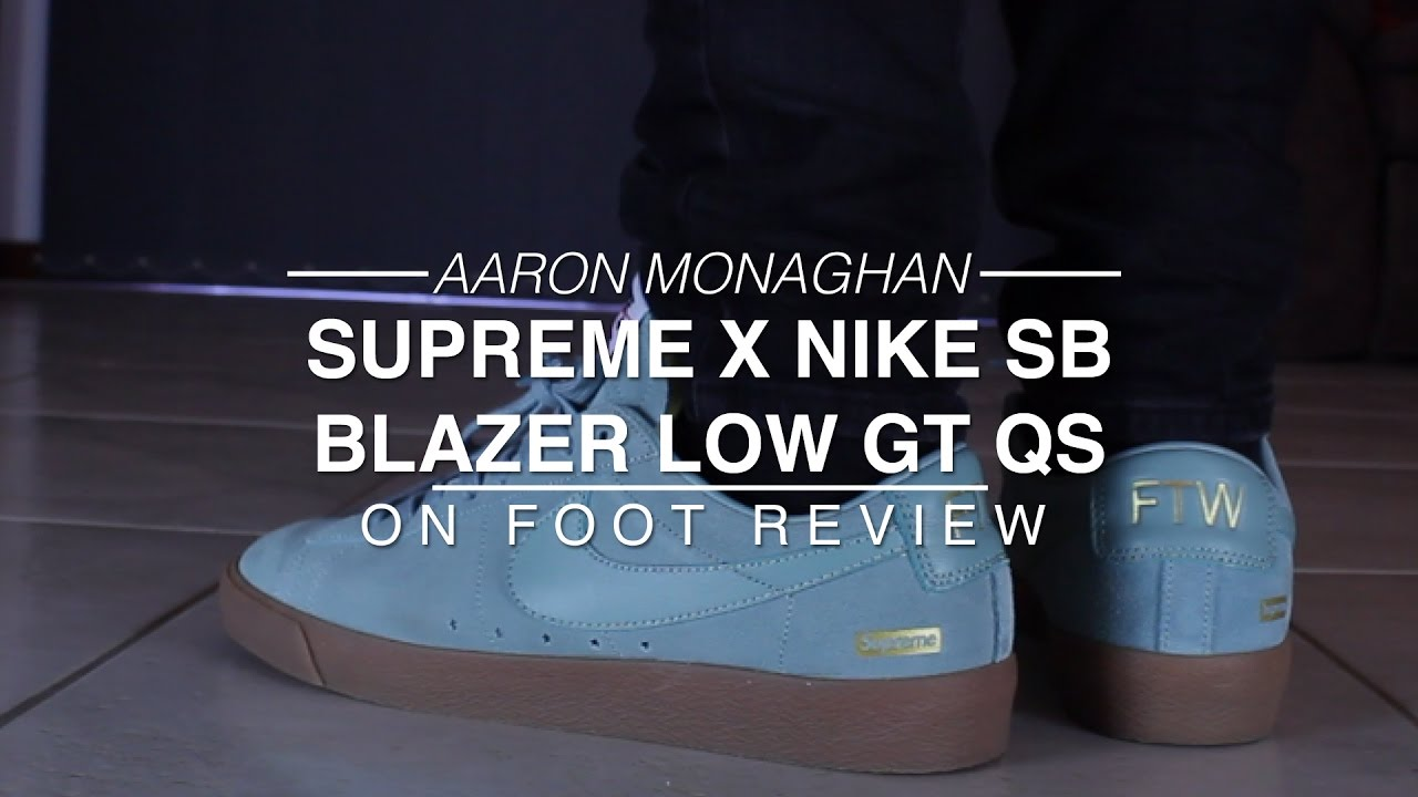 online store 817d0 ddd12 Supreme X Nike SB Blazer Low GT QS Review & On Foot