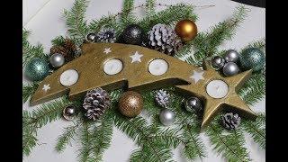 DIY: Weihnachtsdeko,Stern mit Schweif /Christmas, star with tail