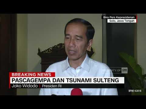 Presiden Jokowi Turut Berbela Sungkawa Terkait Gempa & Tsunami Di Sulteng
