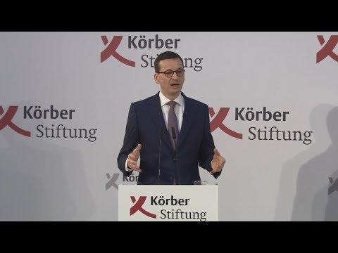Körber Global Leaders Dialogue with Prime Minister Mateusz Morawiecki in Berlin