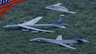 B-52, B-1, B-2 Bombers Deploy on Guam in a Massive Show of Force - B-52 B-1 B-2 戦略爆撃機3機種をグアムに同時展開