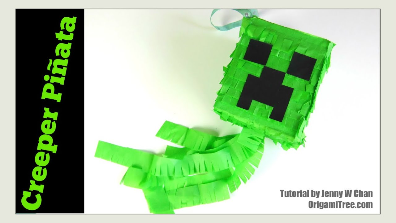 image about Minecraft Printable Creeper identify Paper Crafts - How in direction of Crank out a Piñata- Do it yourself Minecraft Creeper Piñata