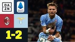Lazio jubelt dank Immobile und Correa: AC Mailand - Lazio Rom 1:2   Serie A   DAZN Highlights
