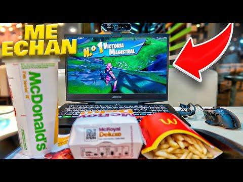 Juego A Fortnite En El McDonalds Y Pasa Esto... *acaba Mal*