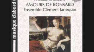 """Amours de Ronsard. Pavane et Gaillarde """"La Milanoise"""". Anthoine de Bertrand."""