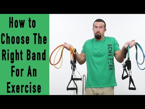 Resistance Bands How To Choose The Right Resistance For an Exercise