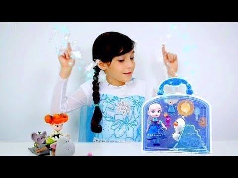 MAGIA FROZEN - ELSA E OLAF ENCONTRAM com ANNA e SVEN ★ Unboxing Playset Disney Animators Collection
