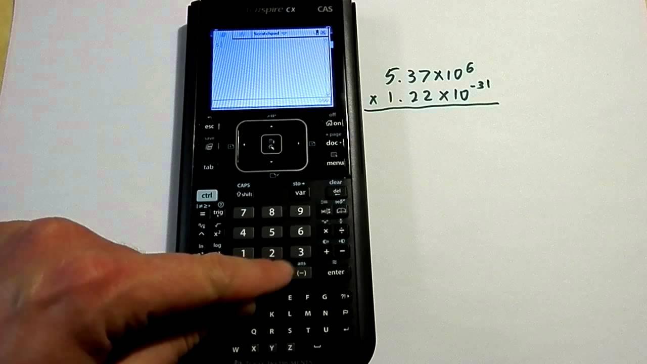 entering scientific notation on a ti nspire cx calculator. Black Bedroom Furniture Sets. Home Design Ideas