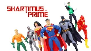 DC Collectibles Justice League Icons Rebirth 7 Pack Set DC Comics Action Figure Toy Review
