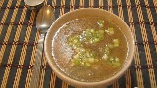 Китайский суп с грибами и курицей  Китайская кухня