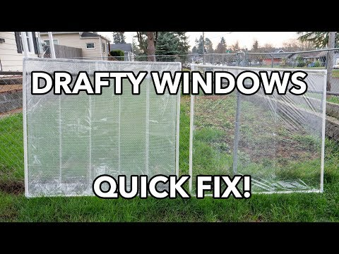 DIY WINDOW INSULATION: How To Fix A Drafty Window With PVC Pipe Inserts For $11 Or Less